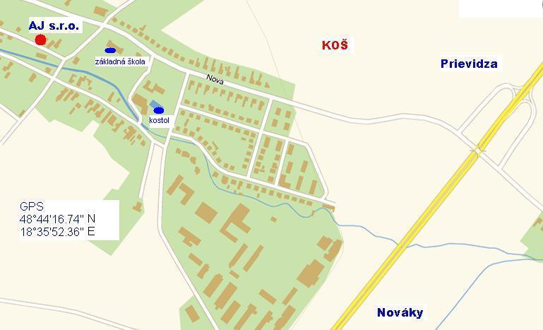 mapa AJservis